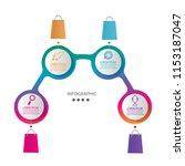 modern timeline infographic... | Shutterstock .eps vector #1153187047