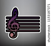 music violin clef sign. g clef. ... | Shutterstock .eps vector #1153187371