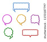 a collection of vector speech... | Shutterstock .eps vector #1153187797