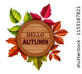 hello autumn . vector... | Shutterstock .eps vector #1153187821