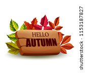 hello autumn . vector... | Shutterstock .eps vector #1153187827