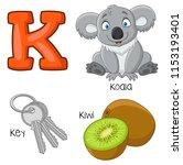 illustration of k alphabet | Shutterstock .eps vector #1153193401