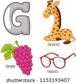 illustration of g alphabet   Shutterstock .eps vector #1153193407
