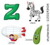 illustration of z alphabet | Shutterstock .eps vector #1153193434
