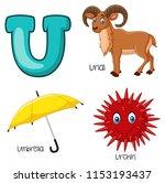 illustration of u alphabet | Shutterstock .eps vector #1153193437