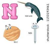 illustration of n alphabet   Shutterstock .eps vector #1153193461