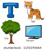 illustration of t alphabet   Shutterstock .eps vector #1153193464