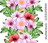 flower print in bright colors.... | Shutterstock .eps vector #1153193944