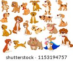 Stock vector cartoon dogs collection 1153194757