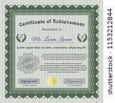 green certificate of... | Shutterstock .eps vector #1153212844