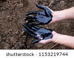 oil leaking. very dirty hand...   Shutterstock . vector #1153219744