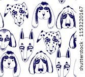 vector naive hand drawn breed... | Shutterstock .eps vector #1153220167