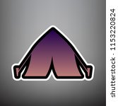 tourist tent sign. vector.... | Shutterstock .eps vector #1153220824