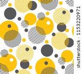 yellow random round geometry... | Shutterstock .eps vector #1153220971