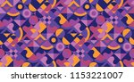 abstract multicolored geometric ... | Shutterstock .eps vector #1153221007
