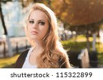 fashion portrait of young... | Shutterstock . vector #115322899