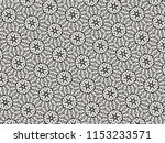 ornament with elements of black ... | Shutterstock . vector #1153233571
