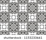ornament with elements of black ... | Shutterstock . vector #1153233661