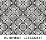 ornament with elements of black ... | Shutterstock . vector #1153233664