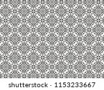 ornament with elements of black ... | Shutterstock . vector #1153233667