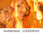 texture of rusty metal wall... | Shutterstock . vector #1153234141