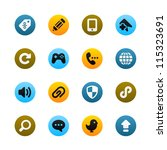 icons for web and mobile | Shutterstock .eps vector #115323691