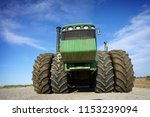 heavy machinery in field with...   Shutterstock . vector #1153239094