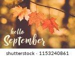 Hello September Card. Autumn...
