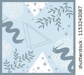 beautiful blue scarf pattern | Shutterstock .eps vector #1153243087