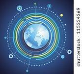 vector internet concept  ... | Shutterstock .eps vector #115324369