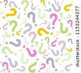 quiz seamless pattern. question ...   Shutterstock .eps vector #1153244377