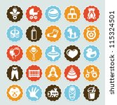 set of vector stickers with... | Shutterstock .eps vector #115324501