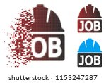 vector job icon in fractured ... | Shutterstock .eps vector #1153247287