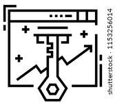 keyword vector illustration in... | Shutterstock .eps vector #1153256014