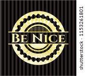 be nice gold badge or emblem   Shutterstock .eps vector #1153261801