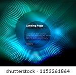 neon glowing techno lines  hi... | Shutterstock .eps vector #1153261864