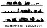 western style buildings....   Shutterstock .eps vector #115326199
