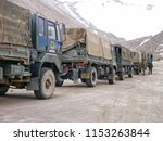 the trucks of indian military...