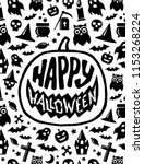 happy halloween. holiday... | Shutterstock .eps vector #1153268224