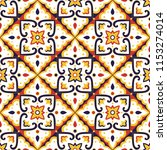 mexican tile pattern vector...   Shutterstock .eps vector #1153274014
