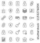 thin line vector icon set  ... | Shutterstock .eps vector #1153276054