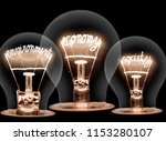photo of light bulbs with... | Shutterstock . vector #1153280107