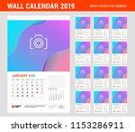wall calendar planner template... | Shutterstock .eps vector #1153286911