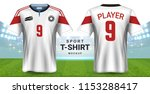 soccer jersey and sportswear t... | Shutterstock .eps vector #1153288417