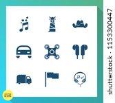 modern  simple vector icon set... | Shutterstock .eps vector #1153300447