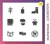 modern  simple vector icon set... | Shutterstock .eps vector #1153307074
