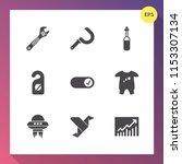 modern  simple vector icon set... | Shutterstock .eps vector #1153307134