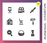 modern  simple vector icon set... | Shutterstock .eps vector #1153307194