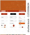 light red vector ui kit in...