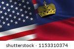 usa and liechtenstein realistic ... | Shutterstock . vector #1153310374